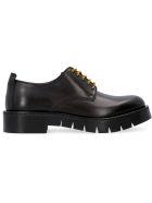 Salvatore Ferragamo Rudy Leather Lace-up Shoes - black