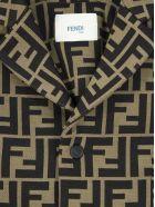 Fendi Brown Cotton Blend Jacket - Nocciola+marrone
