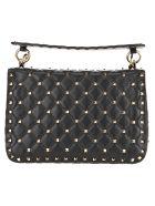 Valentino Medium Rockstud Spike Crossbody Bag - BLACK