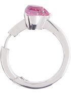 AMBUSH Heart Solitaire Earring - silver