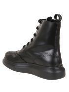 Alexander McQueen H.boot Leath S.rubb. - Black