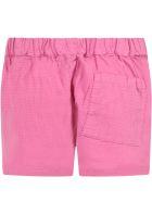 Bobo Choses Purple Short For Girl With Logo - Fuchsia