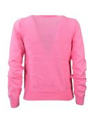 Comme Des Garçons Girl Comme Girl Pom Pom Knitted Sweater - Pink