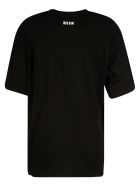 MSGM Embellished Logo T-shirt - Black/Yellow