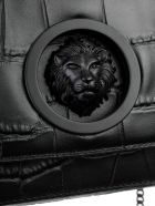 Versus Versace Lion Embossed Shoulder Bag - C Black Gun Metal