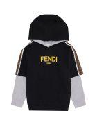 Fendi Cotton Hoodie - black