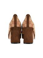 Gucci Gg Platform Mid-heel Loafers - BEIGE
