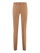Parosh Liliuxy Flared Wool Trousers - Camel
