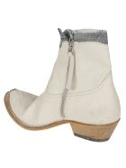Golden Goose Western Boots - Ice/jeans