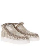 Mou Sand Eskimo Low-cut Sequined Sneakers - Beige