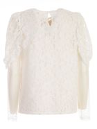 See by Chloé Lined Lace Blouse - White