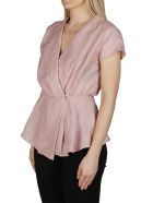 Agnona Faded Rose Linen Blend Blouse - FADED ROSE