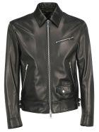 Valentino Leather Jacket - Nero/vltn nero