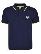 Kenzo Tiger Embroidered Polo Shirt - Blue