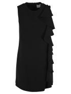 Valentino Ruffled Dress - BLACK