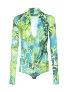 Versace Body Top - Verde + stampa