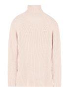 Elisabetta Franchi Celyn B. Ribbed Turtleneck Sweater - Pink