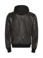 Philipp Plein Lambskin Jacket - black