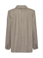 A.P.C. Prune Checked Double-breasted Blazer - Beige