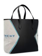 Givenchy Bond Leather Tote - Black/turquoise
