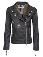 Bully Star Patched Zip Biker Jacket - Nero