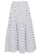 STAUD Skirt - White yy dot