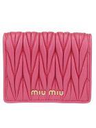 Miu Miu Vertical Wallet - Magenta