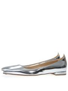 Francesco Russo Silver Leather Mirror Slippers - Silver