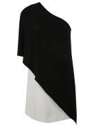 Givenchy Asymmetric Short Dress - Black/white