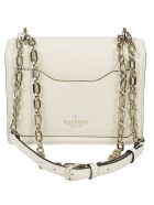 Valentino Vltn Shoulder Bag - Ilight Ivory