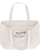 Maison Kitsuné Logo Detail Tote Bag - Beige
