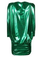 The Attico V-neck Dress - Emerald