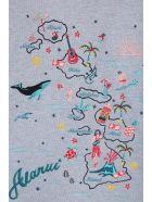 Alanui Hawaiian Grey Cotton Cropped Hoodie Sweatshirt - grey