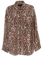 R13 Shirt L/s Animalier - Leopard