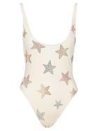 Stella McCartney One-piece Swimsuit With Stars - IVORY