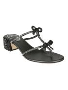 René Caovilla Embellished Sandals - Black