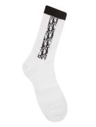 Christian Dior Side Logo Socks - White/Black