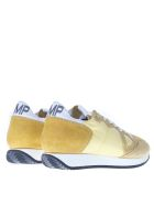 Philippe Model Yellow Monaco Sneakers In Suede - White/yellow