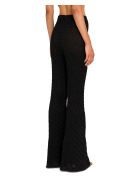 Circus Hotel Lamé Knitted Flared Trousers -  Nero