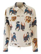 Kirin Haetae Denim Jacket - EGRET MULTI (White)
