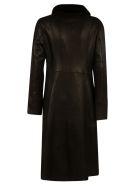 DROMe Double-breasted Long Reversible Coat - Black