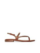 Ash Studded Flat Sandals - Cuoio oro