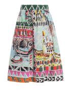 Prada Printed Flared Skirt - Basic