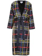 Mira Mikati Wrap Coat With Sequins - NAVY (Blue)