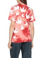 McQ Alexander McQueen Swallow Swarm T-shirt - Riot Red