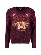 Kenzo Claw Tiger Wool Blend Sweater - Fuchsia