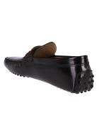 Tod's Black Leather Driving Loafers - Black