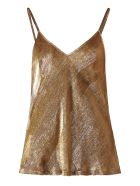 Mes Demoiselles Howe Lurex Velvet Top - Gold