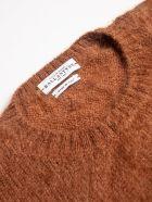 Ballantyne R Neck Pullover Diamond - Brown