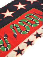 Gucci Scarf Tiger Snake Print - BLACK MULTI